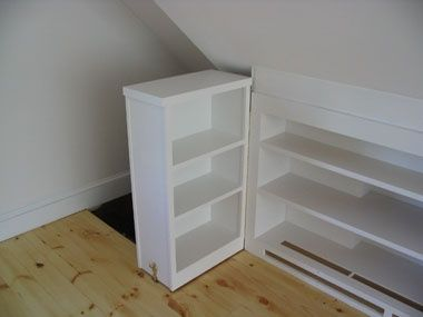 Custom Shelving shelving door open