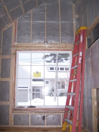 South Portland Warm Tight Addition Window Insulation Detail