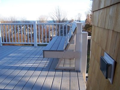 South Portland Whole House Renovation bench on new deck