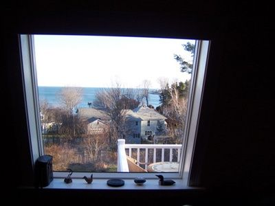 South Portland Whole House Renovation view from inside looking out
