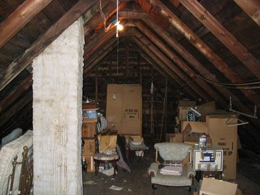 South Portland attic transformation before renovation 2