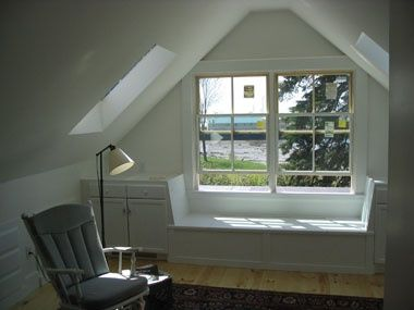 South Portland attic transformation before renovation window nook